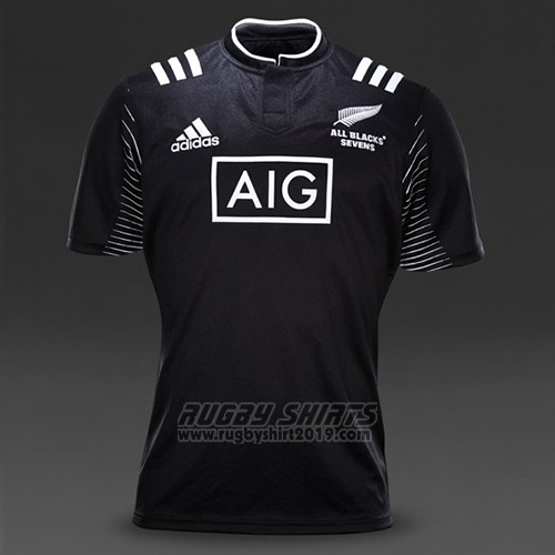 New Zealand All Blacks 7s Rugby Shirt 2015 Home